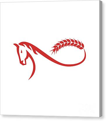 Horse Malt Tail Mobius Strip Retro Canvas Print by Aloysius Patrimonio