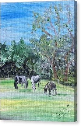 Horse Meadow Canvas Print by Isabella F Abbie Shores FRSA