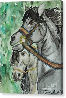 Horse Meets Carousel Pony Canvas Print by Jamey Balester