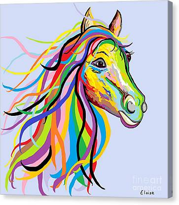 Horse Of A Different Color Canvas Print by Eloise Schneider