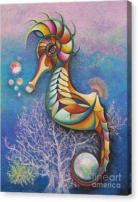 Horse Of A Different Color Canvas Print by Tracey Levine