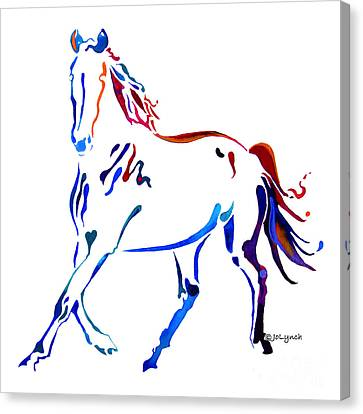 Abstract Equine Canvas Print - Horse Of Many Colors by Jo Lynch