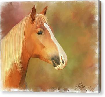 Horse Painting Canvas Print by Michael Greenaway