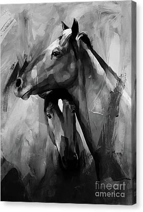Horse Pair 001  Canvas Print