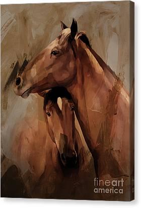 Horse Pair 005 Canvas Print