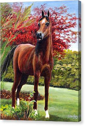 Horse Portrait Canvas Print by Eileen  Fong