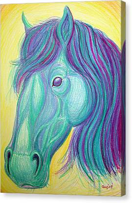 Horse Profile Canvas Print by Nick Gustafson