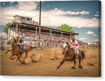 Horse Race Canvas Print by Todd Klassy