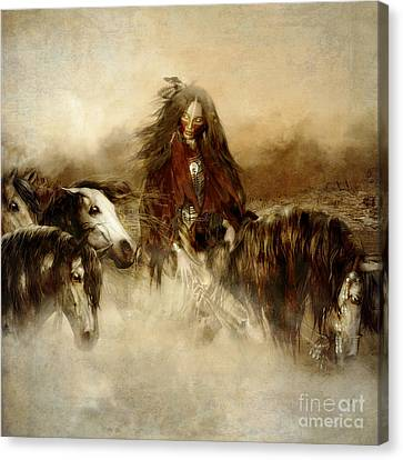 Horse Spirit Guides Canvas Print by Shanina Conway