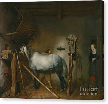 Horse Stable Canvas Print by Celestial Images
