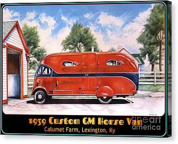 Horse Van Canvas Print