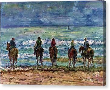 Horseback Beach Memories Canvas Print