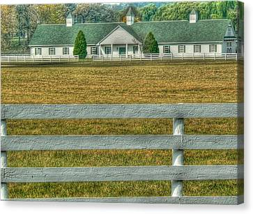Illinois Barns Canvas Print - Horseland by David Bearden