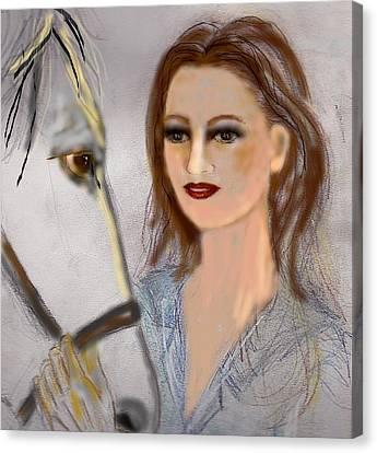 Horse'n Around Canvas Print