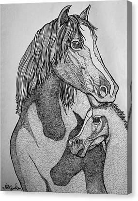 Horses Canvas Print by Nick Gustafson