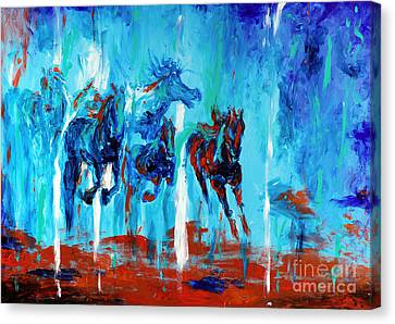 Horses Of Jeremaih Canvas Print by Lidija Ivanek - SiLa