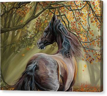 Horses Of The Four Seasons - Fall Canvas Print by Kim McElroy