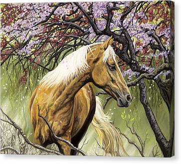 Horses Of The Four Seasons - Spring Canvas Print by Kim McElroy
