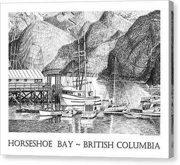 Vancouver Canvas Print - Horseshoe Bay British Columbia by Jack Pumphrey