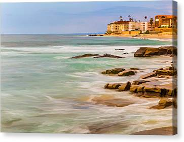 Horseshoe Beach Canvas Print by Peter Tellone