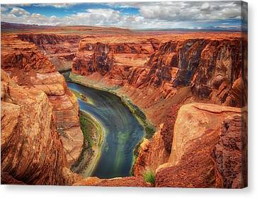 Horseshoe Bend Arizona - Colorado River #2 Canvas Print by Jennifer Rondinelli Reilly - Fine Art Photography
