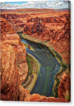 Canvas Print featuring the photograph Horseshoe Bend Arizona - Colorado River #3 by Jennifer Rondinelli Reilly - Fine Art Photography