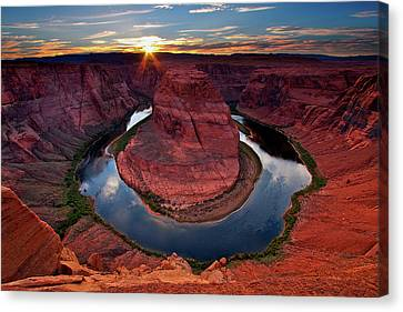 Colorado River Canvas Print - Horseshoe Bend Arizona by Dave Dill