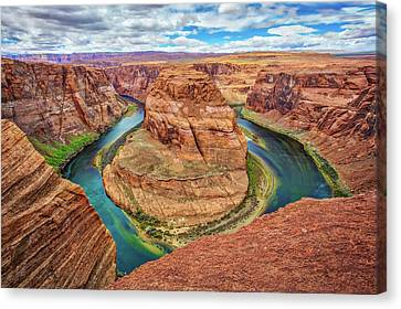 Canvas Print featuring the photograph Horseshoe Bend - Colorado River - Arizona by Jennifer Rondinelli Reilly - Fine Art Photography