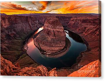Horseshoe Bend, Colorado River, Page, Arizona  Canvas Print