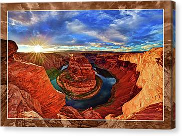 Canvas Print featuring the photograph Horseshoe Bend Sunset by ABeautifulSky Photography