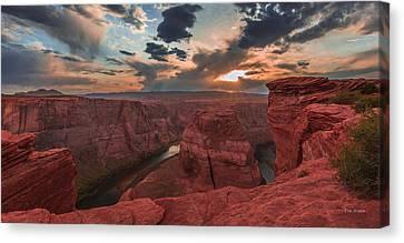 Horseshoe Bend Sunset Canvas Print by Tim Bryan