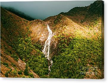 Horsetail Waterfalls Tasmania  Canvas Print by Jorgo Photography - Wall Art Gallery