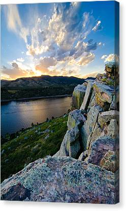 Fort Collins Canvas Print - Horsetooth Reservoir, Fort Collins, Colorado by Preston Broadfoot
