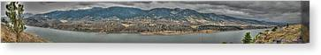 Horsetooth Reservoir Panoramic Hdr Canvas Print by Aaron Burrows