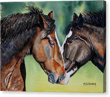 Horsing Around Canvas Print by Maria Barry