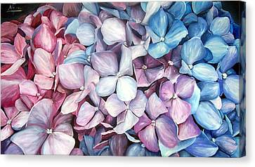Hortensias Canvas Print by Natalia Tejera