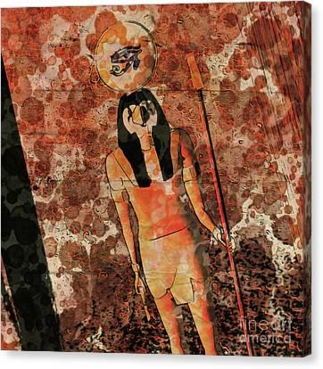 Horus Canvas Print - Horus, Egyptian God By Raphael Terra And Mary Bassett by Raphael Terra