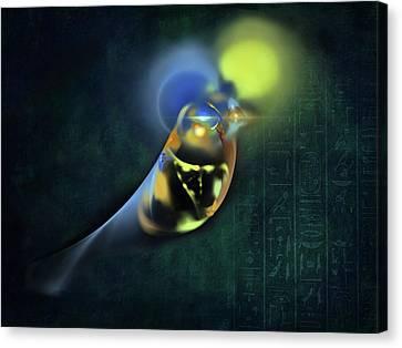 Horus Egyptian God Of The Sky Canvas Print by Menega Sabidussi