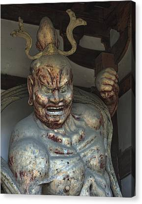 Horyu-ji Temple Gate Guardian - Nara Japan Canvas Print by Daniel Hagerman