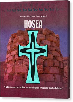 Hosea Books Of The Bible Series Old Testament Minimal Poster Art Number 28 Canvas Print