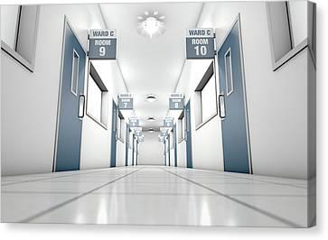 Hospital Hallway Canvas Print by Allan Swart