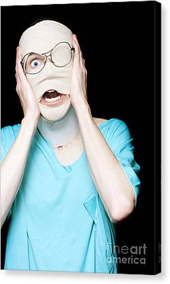 Hospital Trauma Patient Screaming In Terror Canvas Print