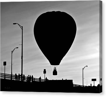 Hot Air Balloon Bridge Crossing Canvas Print by Bob Orsillo