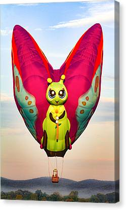 Hot Air Balloon Butterfly Canvas Print by Brian Caldwell