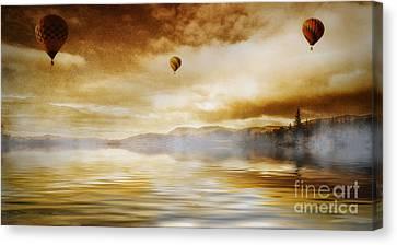 Hot Air Balloon Escape Canvas Print by Ian Mitchell