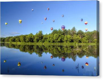 Quechee Balloon Fest Reflections Canvas Print