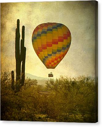 Hot Air Balloon Flight Over The Southwest Desert Canvas Print by James BO  Insogna