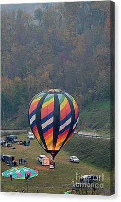 Hot Air Balloon Getting Ready For Lift Off Canvas Print by Dan Friend