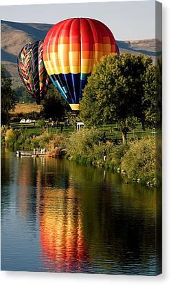 Hot Air Balloon Rally Canvas Print by David Patterson