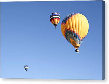 Hot Air Balloon Ride A Special Adventure Canvas Print by Christine Till